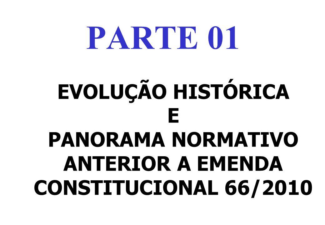 EVOLUÇÃO HISTÓRICA E PANORAMA NORMATIVO ANTERIOR A EMENDA CONSTITUCIONAL 66/2010 PARTE 01