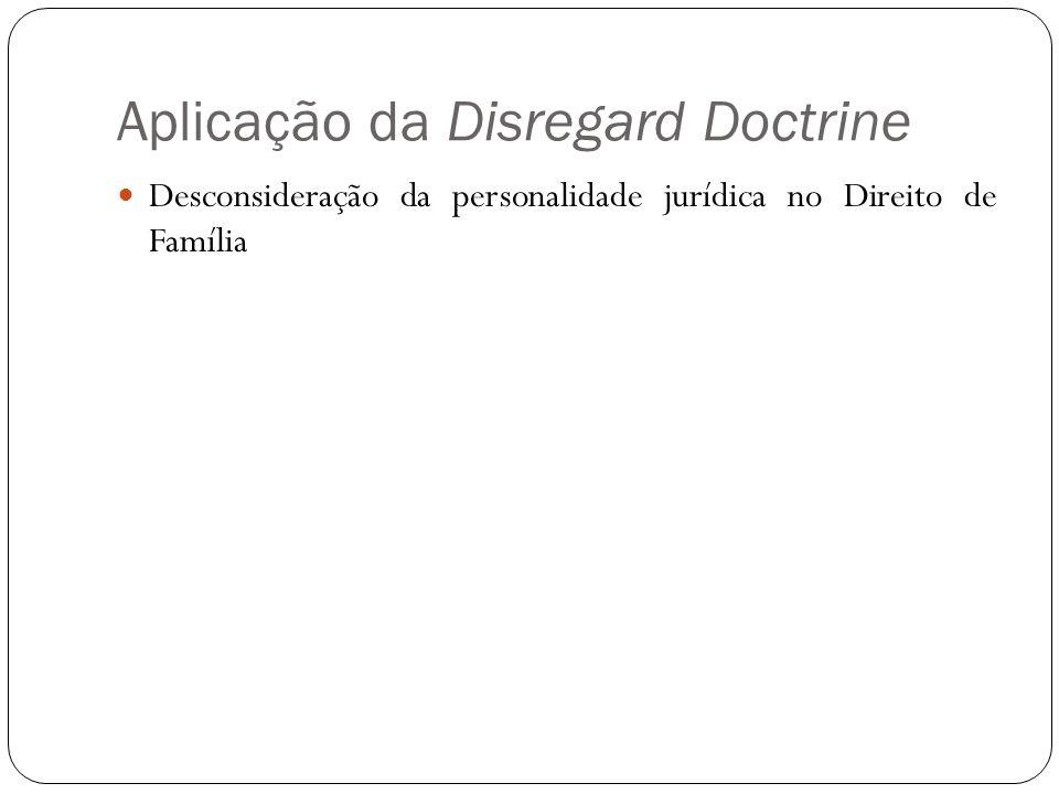 Aplicação da Disregard Doctrine Desconsideração da personalidade jurídica no Direito de Família