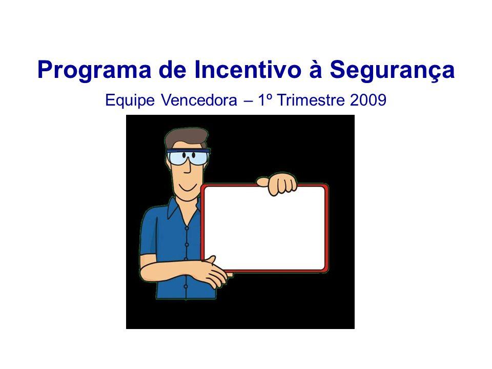 Programa de Incentivo à Segurança Equipe Vencedora – 1º Trimestre 2009