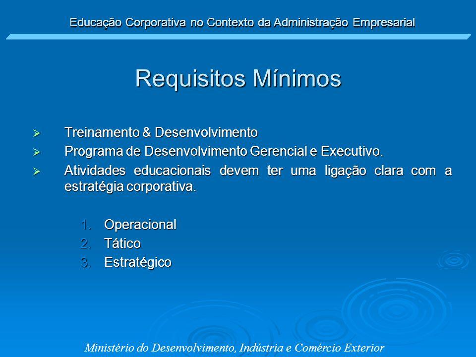 Ministério do Desenvolvimento, Indústria e Comércio Exterior Treinamento & Desenvolvimento Treinamento & Desenvolvimento Programa de Desenvolvimento G