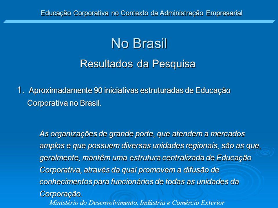 Educação Corporativa no Contexto da Administração Empresarial Ministério do Desenvolvimento, Indústria e Comércio Exterior No Brasil 1. Aproximadament
