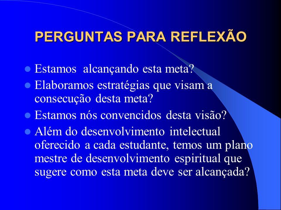 O PERFIL DA EDUCAÇÃO CRISTÃ TODO INDIVÍDUO POSSUI CARACTERÍSTICAS PECULIARES QUE OS DISTINGUEM.