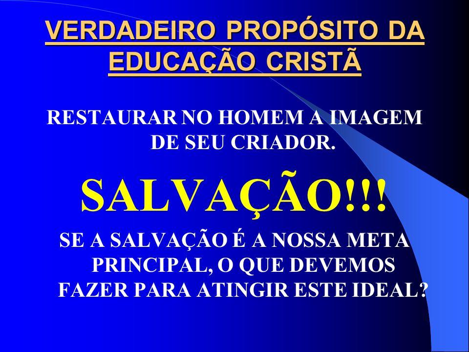 FUNÇÃO DA EDUCAÇÃO CRISTÃ DUPLA DIMENSÃO DA EDUCAÇÃO CRISTÃ: Fé Cristã Disciplina Acadêmica