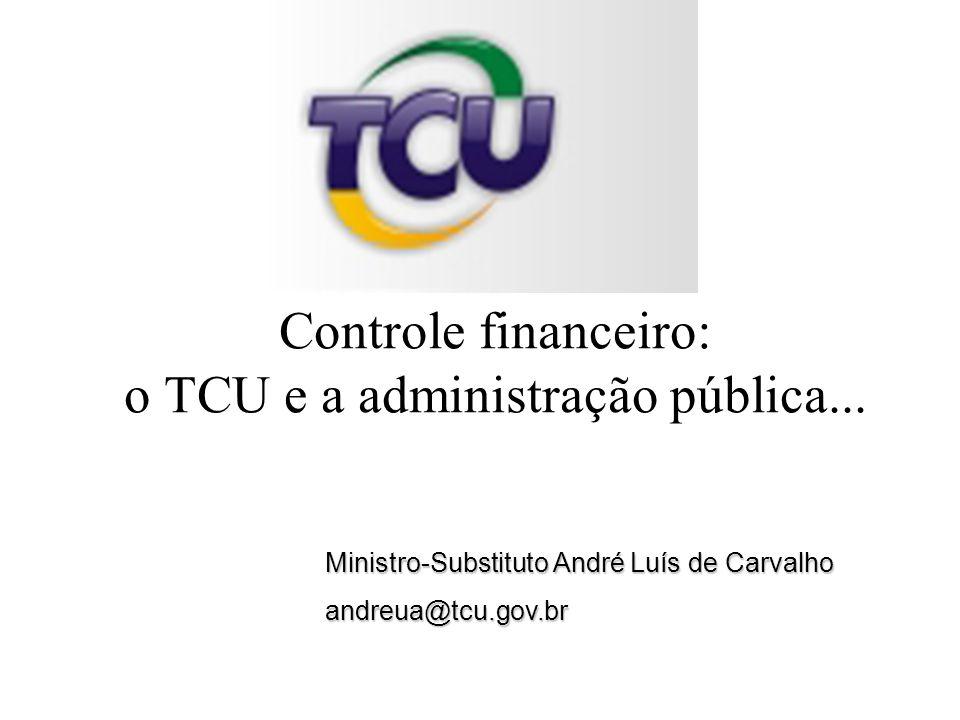 Ministro-Substituto André Luís de Carvalho andreua@tcu.gov.br Controle financeiro: o TCU e a administração pública...