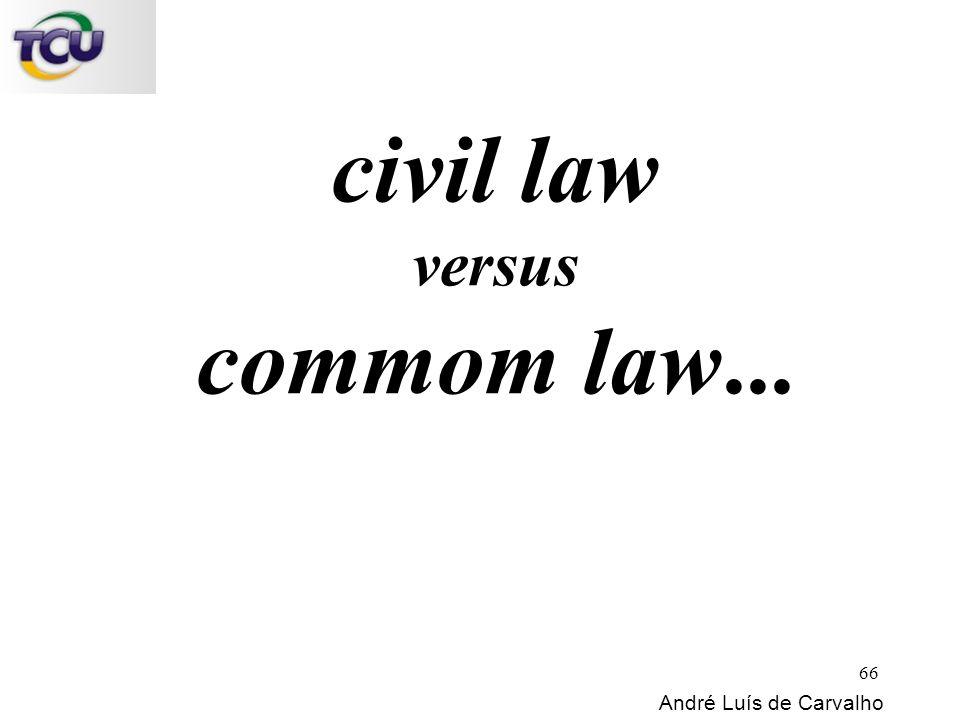 civil law versus commom law... André Luís de Carvalho 66