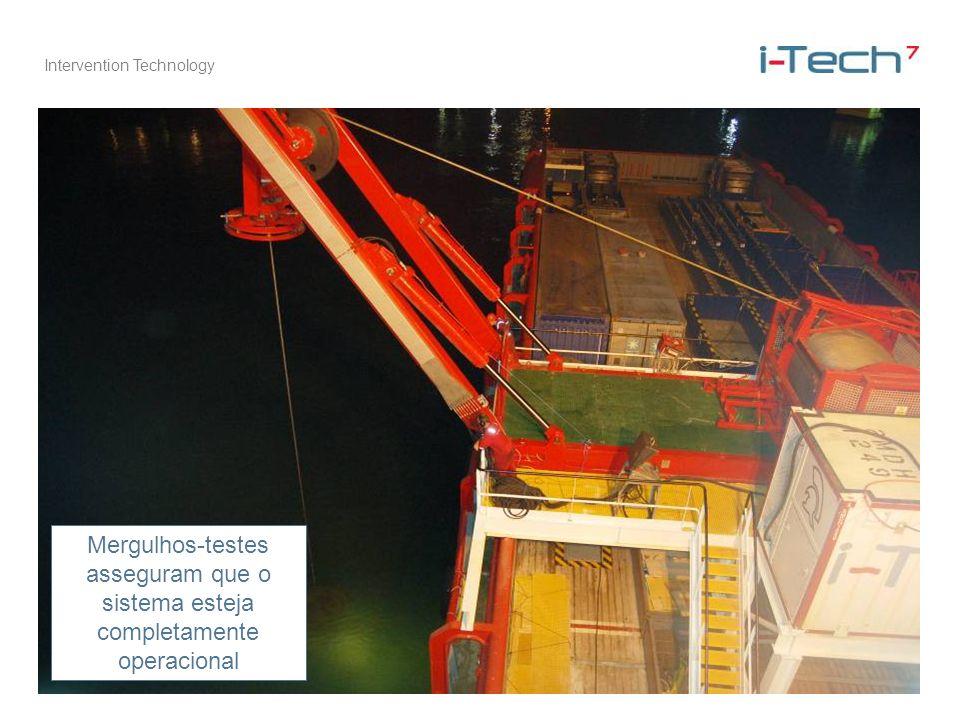 Intervention Technology Mergulhos-testes asseguram que o sistema esteja completamente operacional