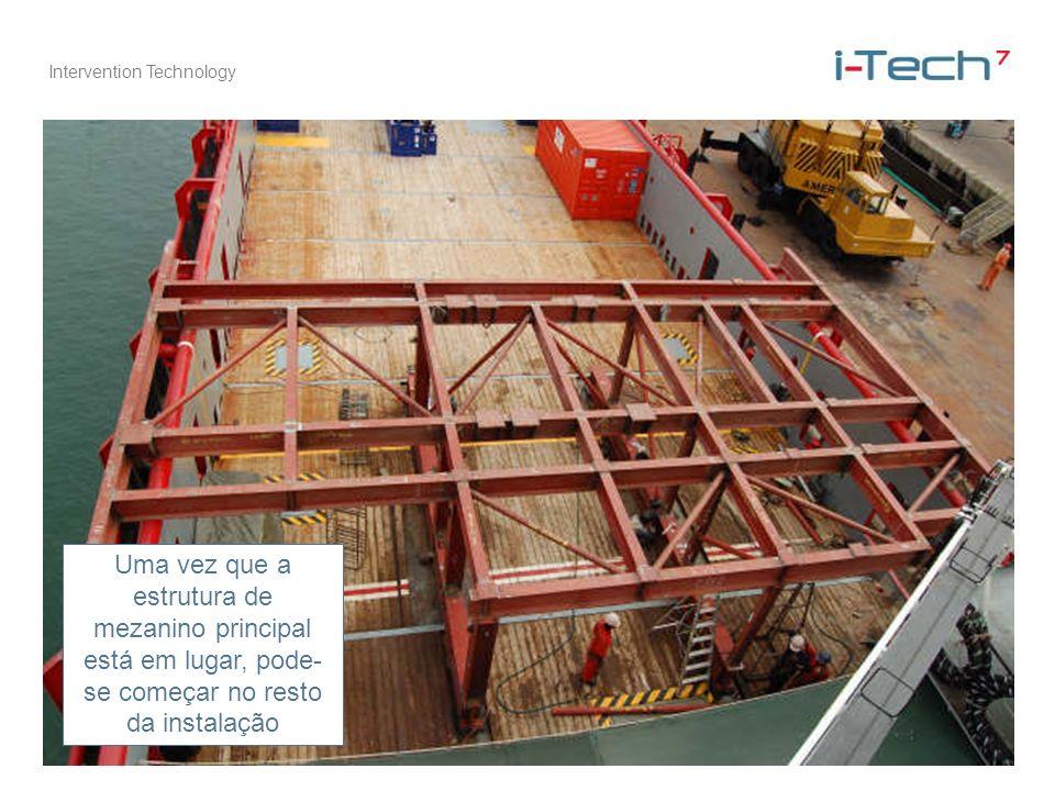 Intervention Technology Uma vez que a estrutura de mezanino principal está em lugar, pode- se começar no resto da instalação