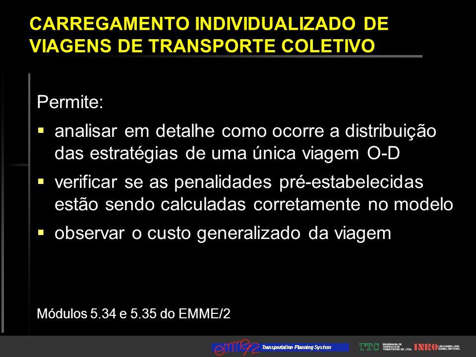 At To Mode Line Volume Impedance Waiting Boarding Headway Time 1411 ------------------------> 100.00 0.00 - - - - destination + 100.00 - - - - 0.00 CARREGAMENTO INDIVIDUALIZADO DE VIAGENS DE TRANSPORTE COLETIVO