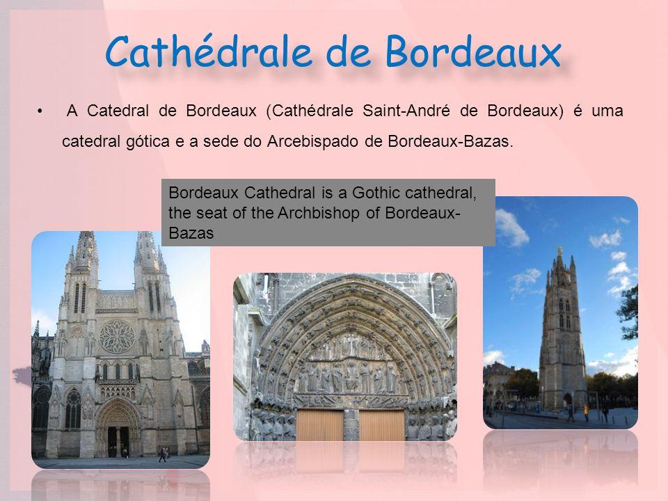 Cathédrale de Bordeaux A Catedral de Bordeaux (Cathédrale Saint-André de Bordeaux) é uma catedral gótica e a sede do Arcebispado de Bordeaux-Bazas. Bo