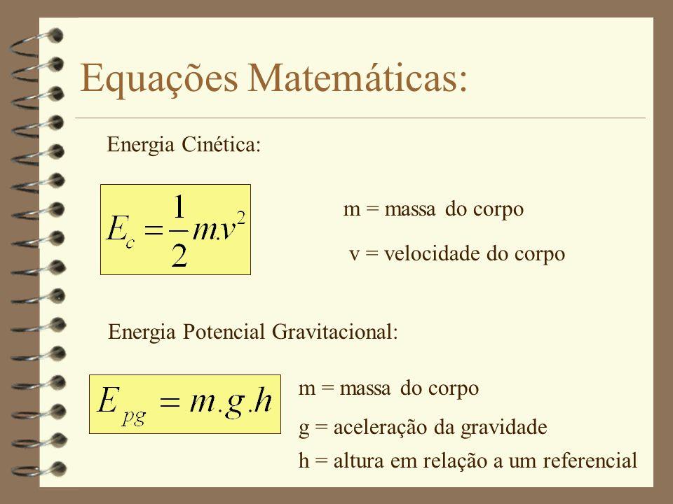 Energia Mecânica A energia mecânica pode ser dividida em dois tipos: * Cinética: * Potencial: Relativa ao movimento Fica armazenada no corpo