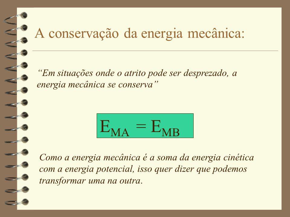 Equações Matemáticas: m = massa do corpo v = velocidade do corpo m = massa do corpo Energia Cinética: g = aceleração da gravidade h = altura em relaçã