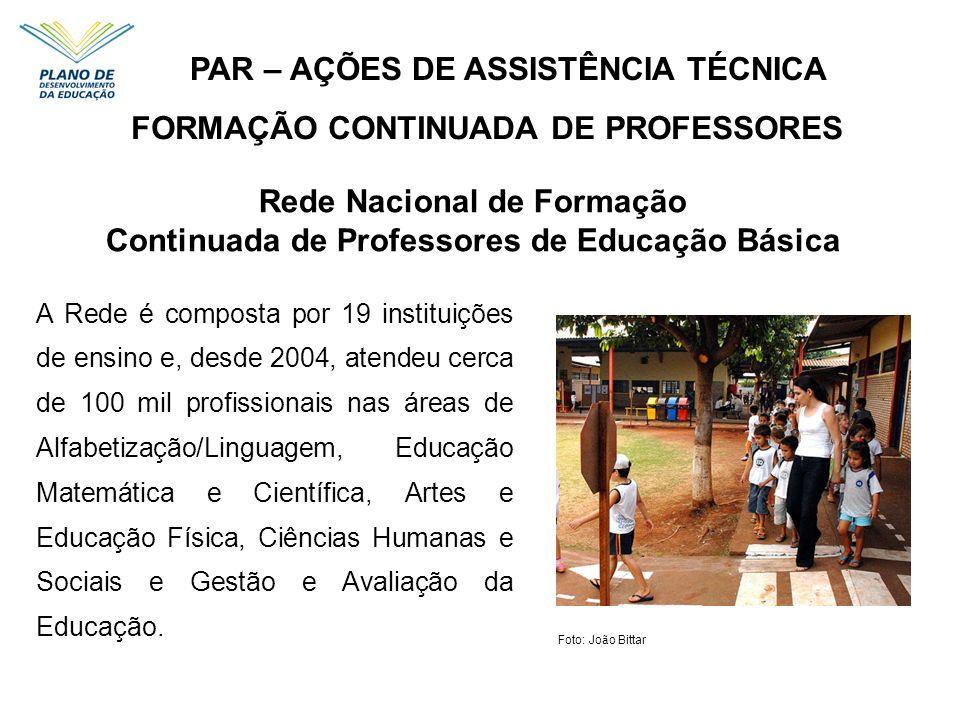 A Rede é composta por 19 instituições de ensino e, desde 2004, atendeu cerca de 100 mil profissionais nas áreas de Alfabetização/Linguagem, Educação M
