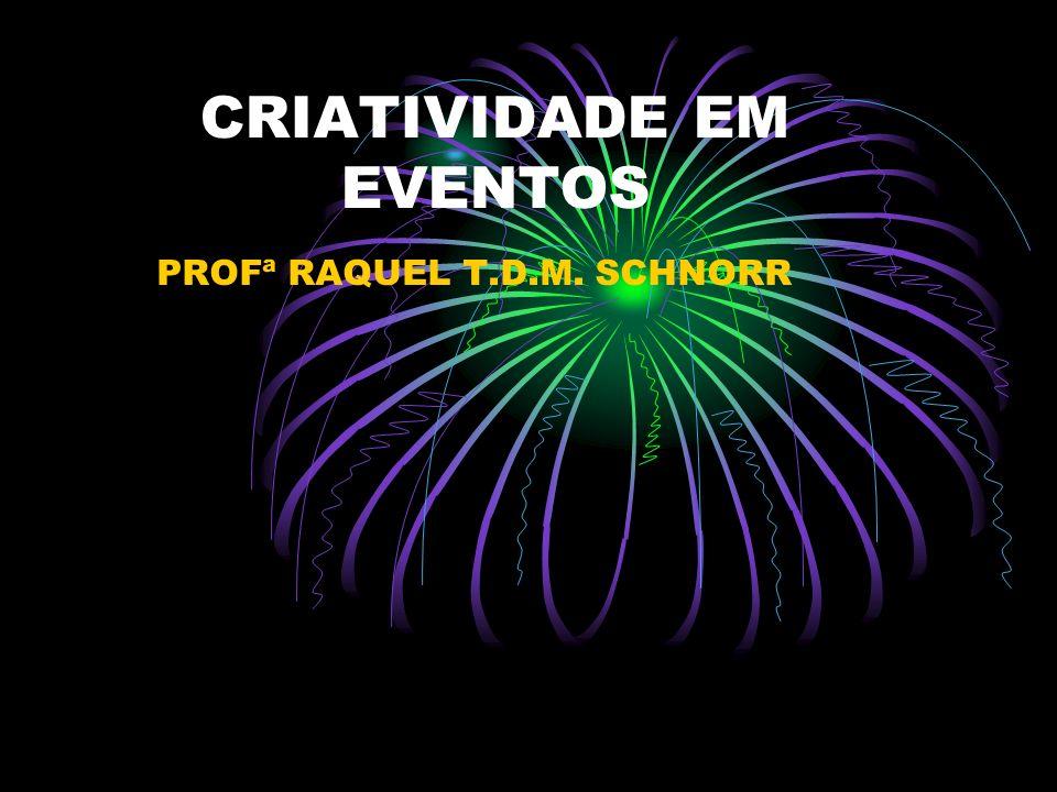 CRIATIVIDADE EM EVENTOS PROFª RAQUEL T.D.M. SCHNORR