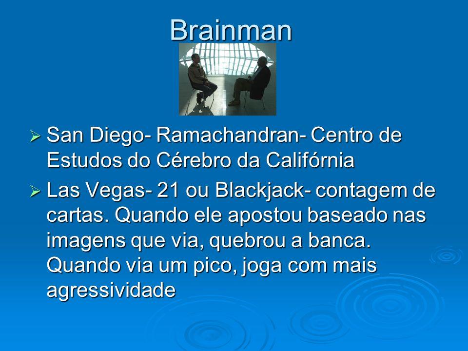Brainman San Diego- Ramachandran- Centro de Estudos do Cérebro da Califórnia San Diego- Ramachandran- Centro de Estudos do Cérebro da Califórnia Las V