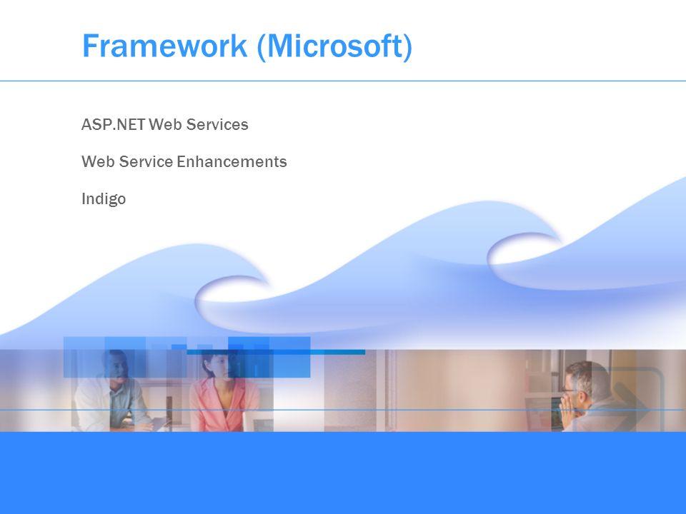 Framework (Microsoft) ASP.NET Web Services Web Service Enhancements Indigo
