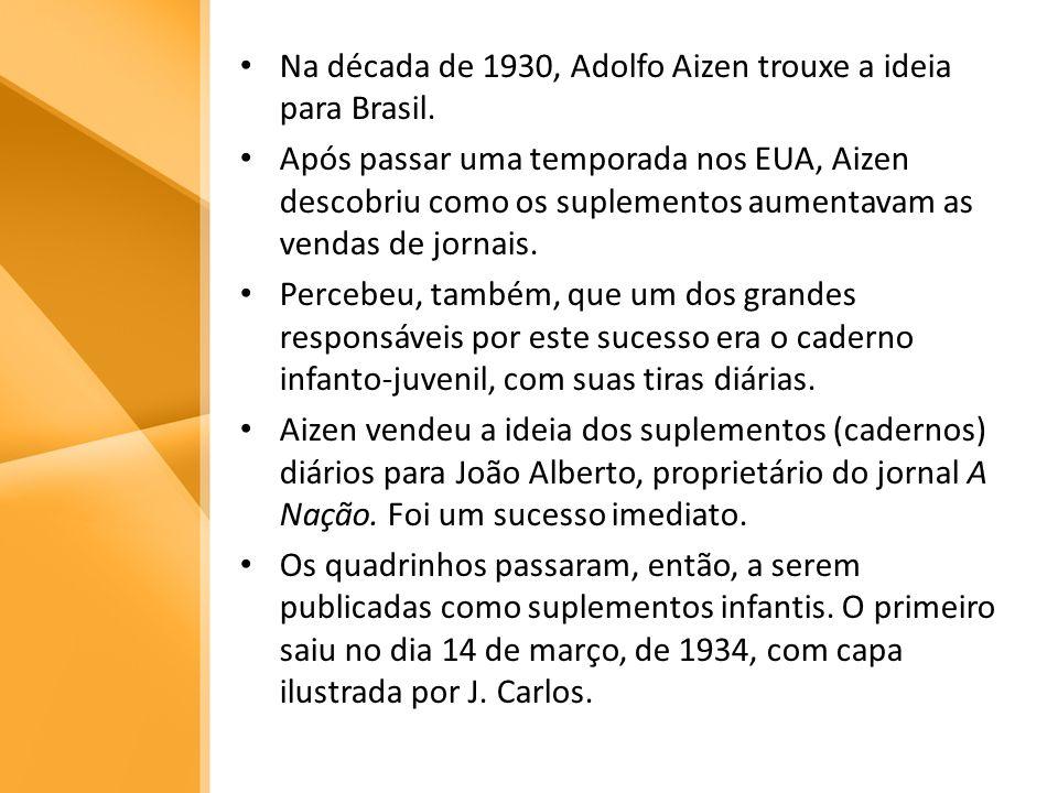 Na década de 1930, Adolfo Aizen trouxe a ideia para Brasil. Após passar uma temporada nos EUA, Aizen descobriu como os suplementos aumentavam as venda