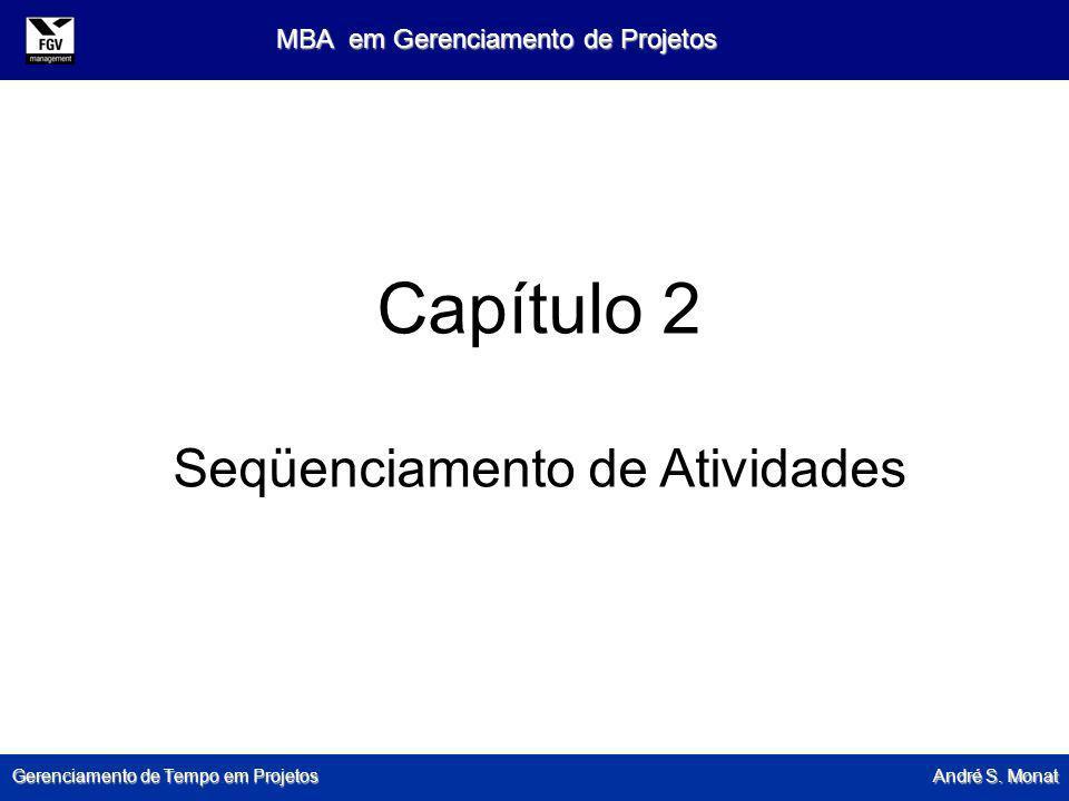 Gerenciamento de Tempo em Projetos André S. Monat MBA em Gerenciamento de Projetos Capítulo 2 Seqüenciamento de Atividades