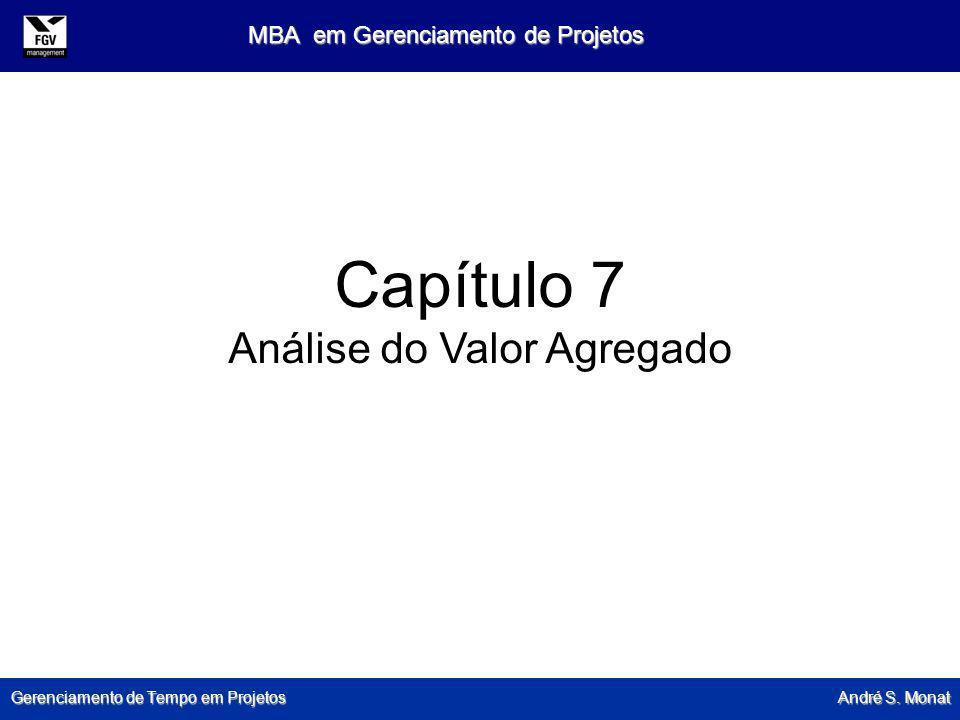 Gerenciamento de Tempo em Projetos André S. Monat MBA em Gerenciamento de Projetos Capítulo 7 Análise do Valor Agregado