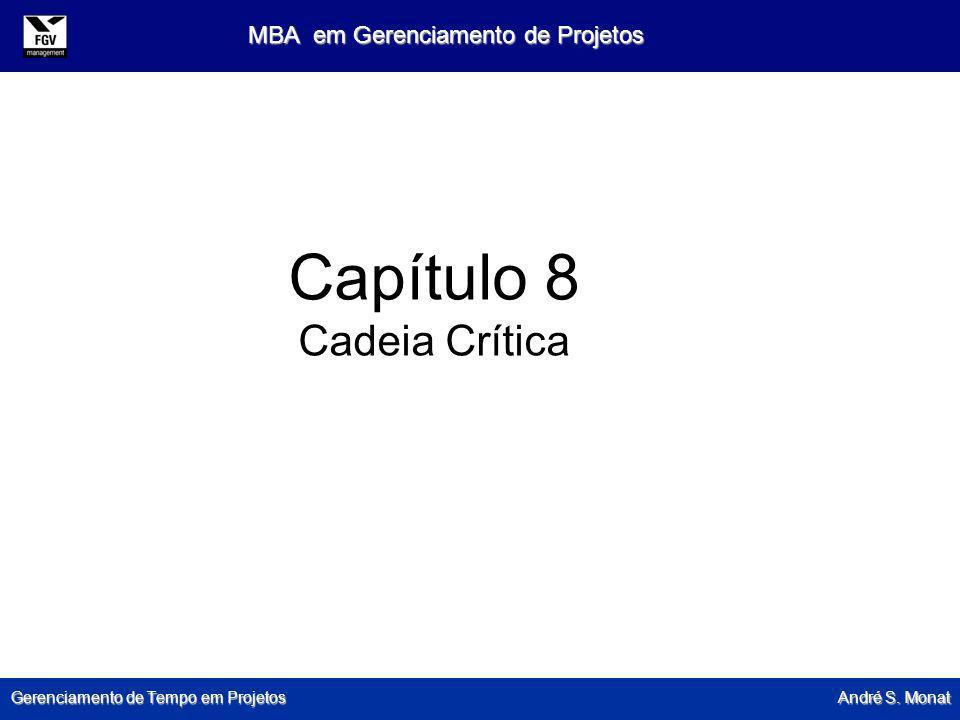 Gerenciamento de Tempo em Projetos André S. Monat MBA em Gerenciamento de Projetos Capítulo 8 Cadeia Crítica