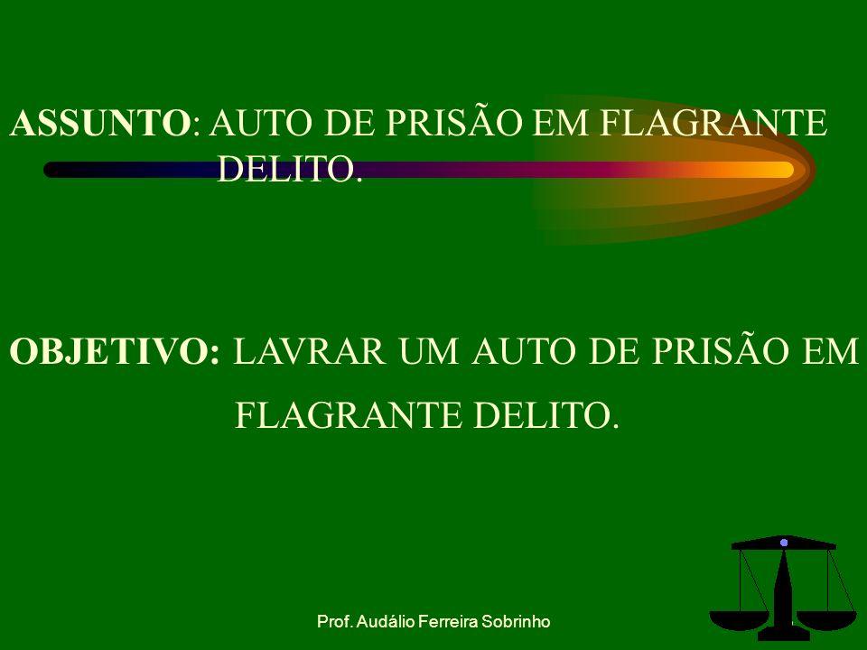 3 OBJETIVO: LAVRAR UM AUTO DE PRISÃO EM FLAGRANTE DELITO.