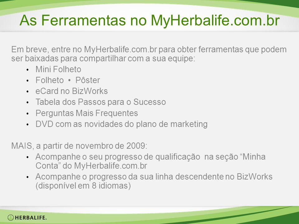As Ferramentas no MyHerbalife.com.br Em breve, entre no MyHerbalife.com.br para obter ferramentas que podem ser baixadas para compartilhar com a sua e