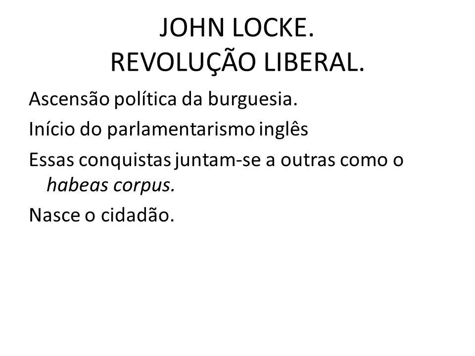 JOHN LOCKE.REVOLUÇÃO LIBERAL. Ascensão política da burguesia.