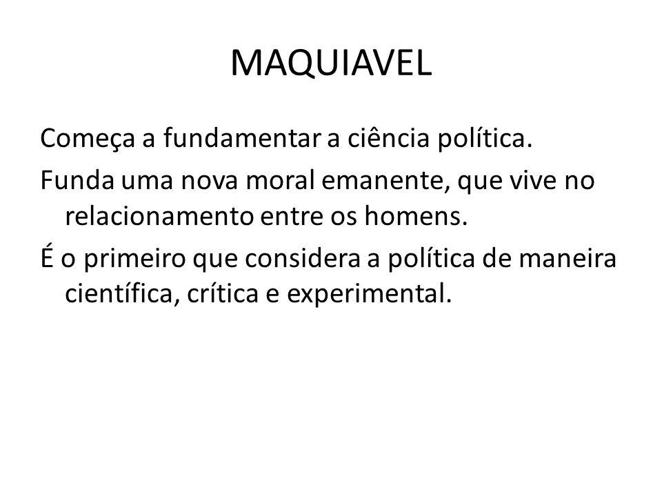 JEAN BODIN Maquiavel pretendia construir um estado.