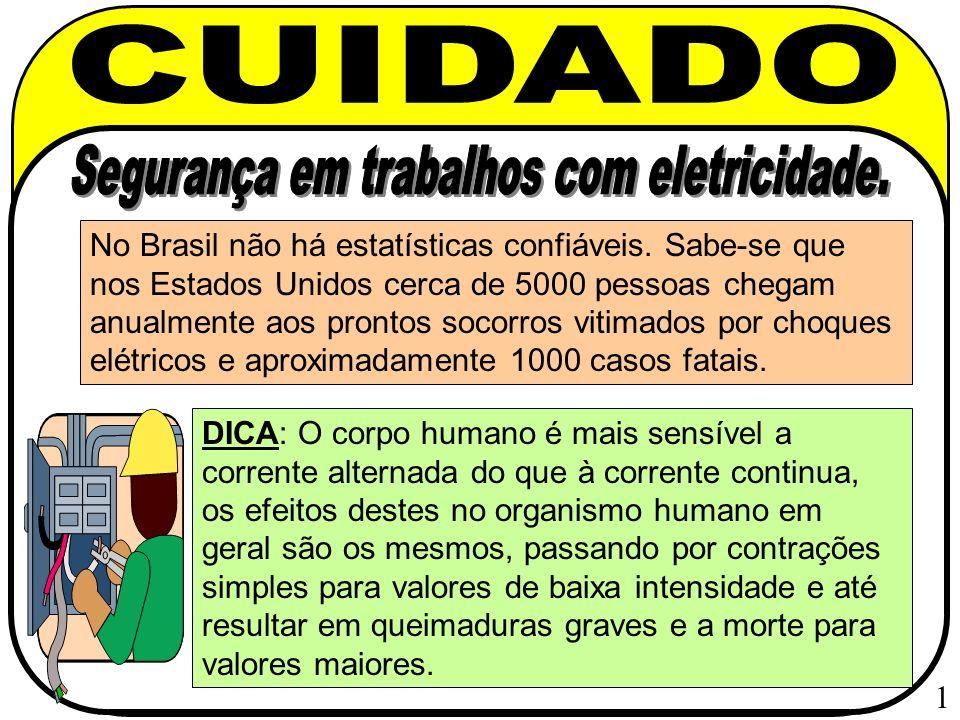 Prevenção de Acidentes com Eletricidade Quando se trata de medidas preventivas de choque elétrico torna se obrigatório consultar 2 normas brasileiras : NBR 5410 e a NR 10.