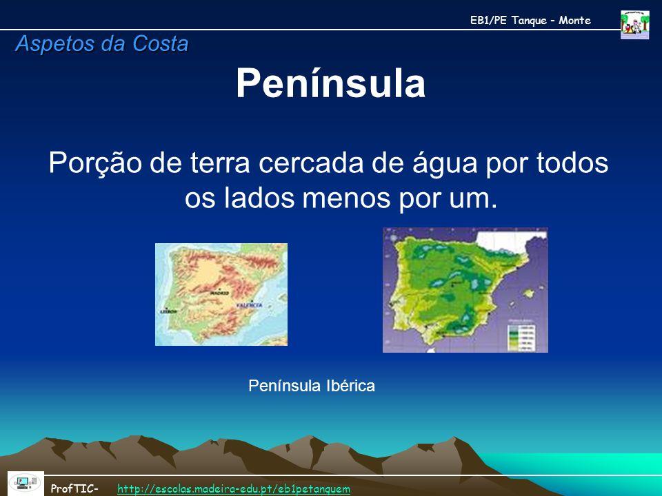 Península EB1/PE Tanque - Monte ProfTIC- http://escolas.madeira-edu.pt/eb1petanquemhttp://escolas.madeira-edu.pt/eb1petanquem Porção de terra cercada