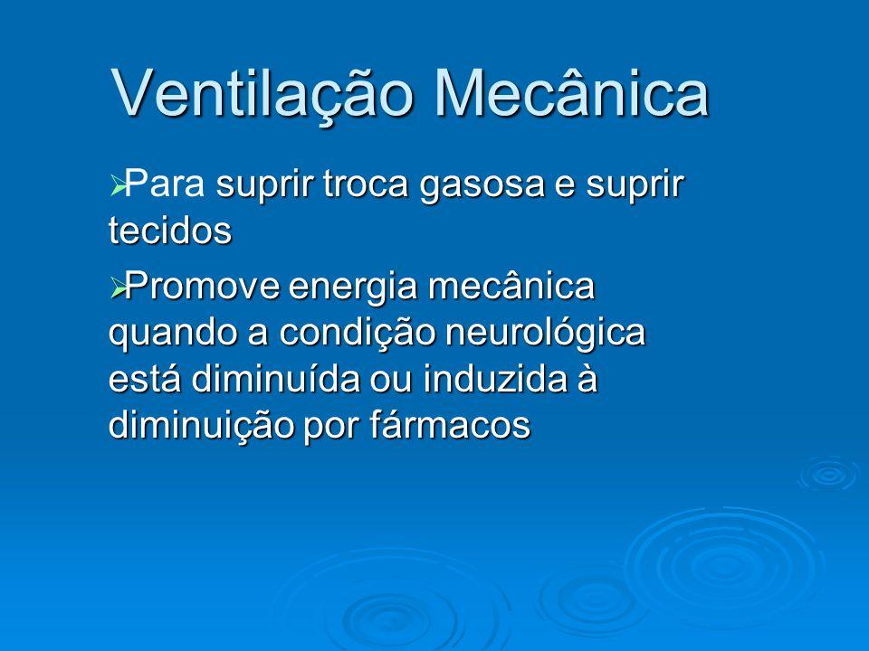 Ventilação Mecânica Complicações: 1.Pneumótórax – ruptura alveolar causada por alta pressão 2.