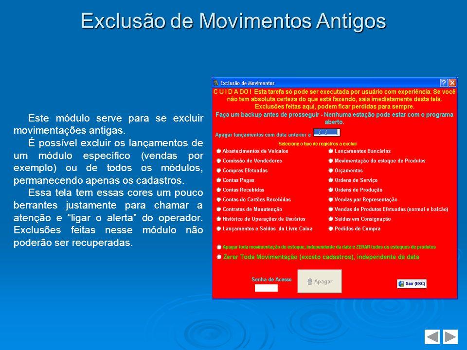Agenda do Dia Essa tela é mostrada logo no início do sistema.