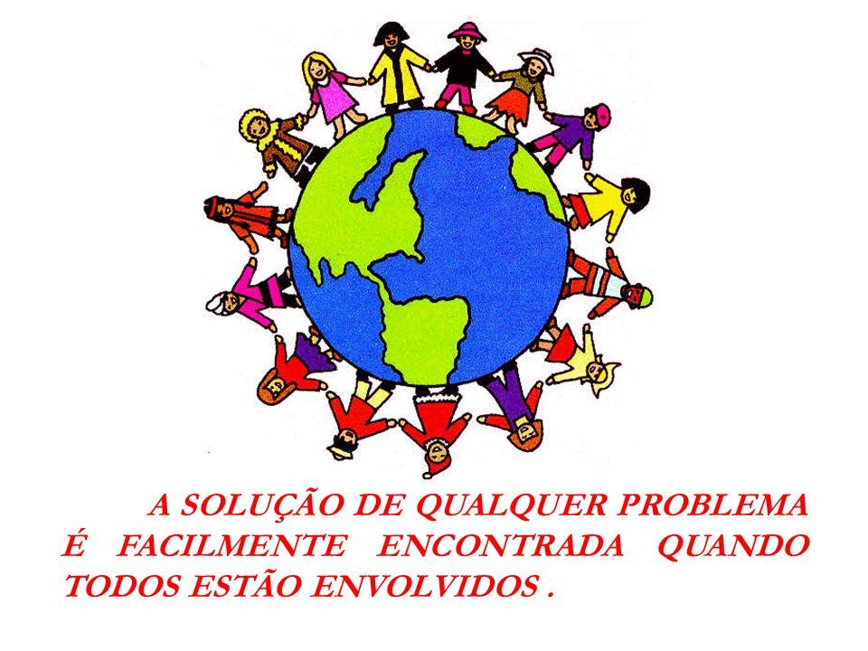 A SOLUÇÃO DE QUALQUER PROBLEMA É FACILMENTE ENCONTRADA QUANDO TODOS ESTÃO ENVOLVIDOS.