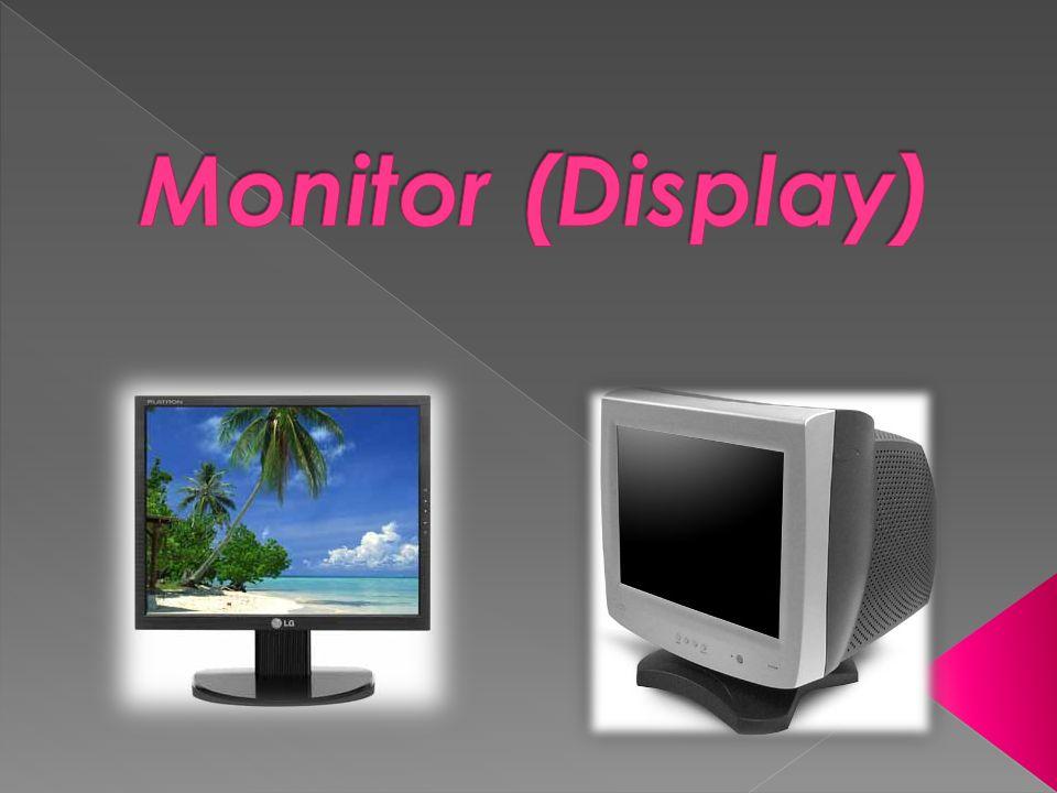 CRT (Tubos de Raios Catódicos) LCD (Display de Cristais Líquidos) Tipos de Écran