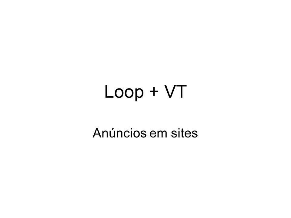 Loop + VT Anúncios em sites