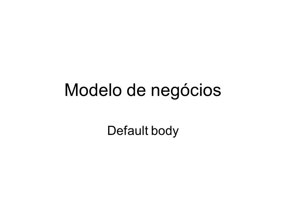 Modelo de negócios Default body