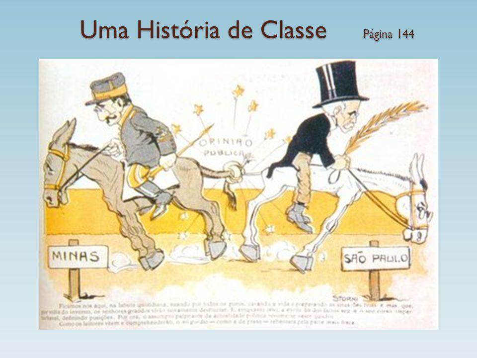 Uma História de Classe Página 144 República Velha – 1889-1930 Movimentos sociais excluídos do processo de decisão política X Oligarquia rurais (cafeic