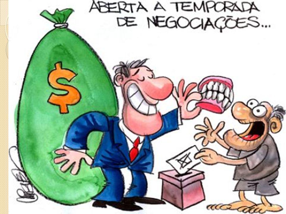 Vícios - Voto de Cabresto * - Fraudes eleitorais - Classe média: militares, artesãos, profissionais liberais, funcionários públicos de médio escalão.