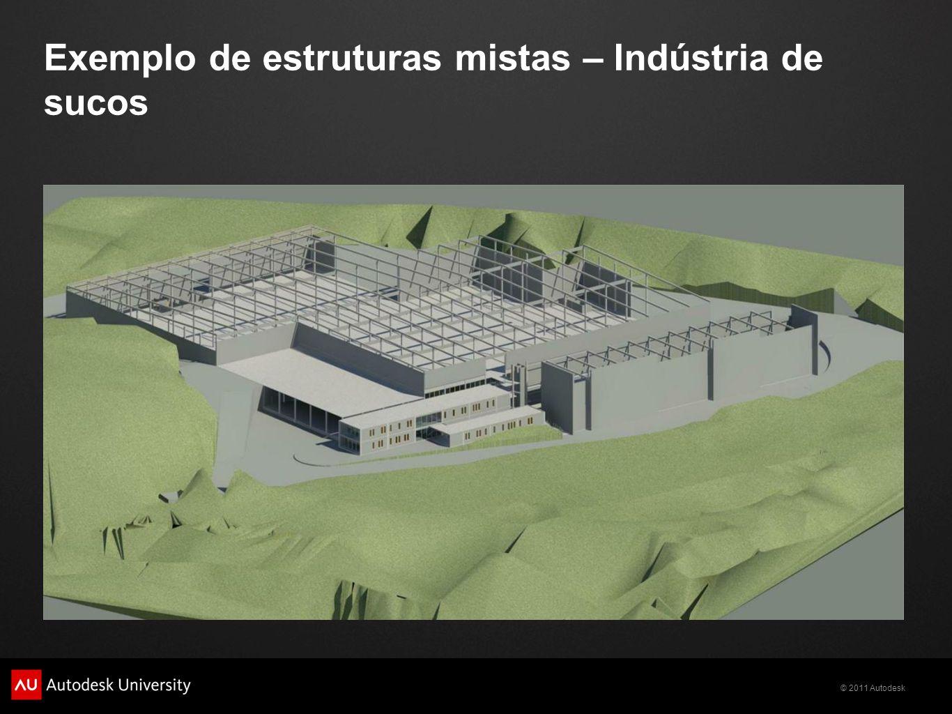 © 2011 Autodesk Exemplo de estruturas mistas – Indústria de sucos