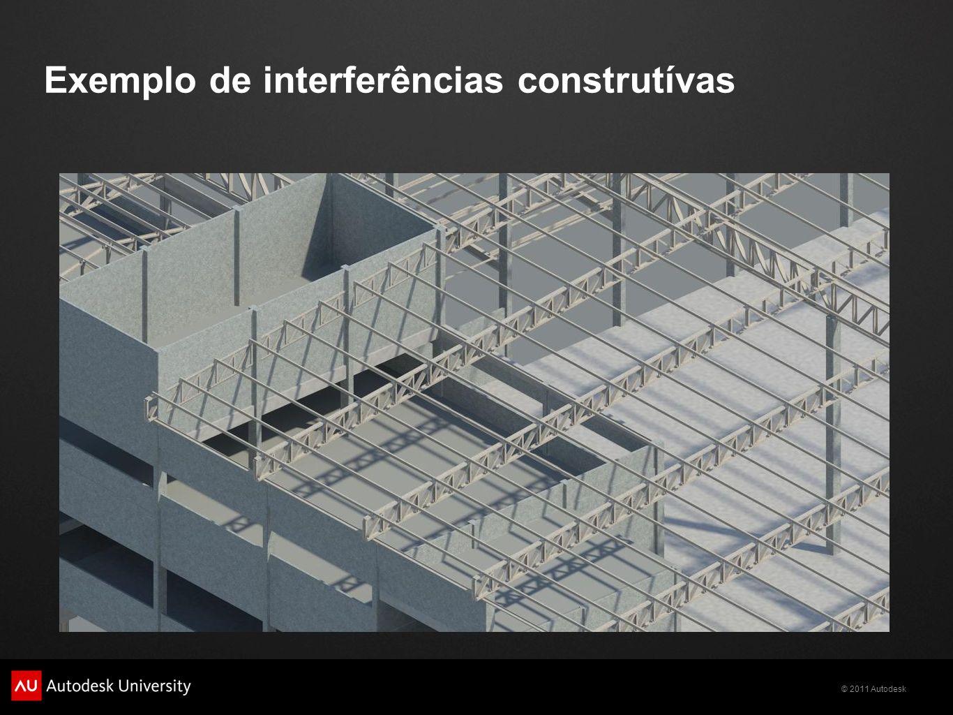 © 2011 Autodesk Exemplo de interferências construtívas