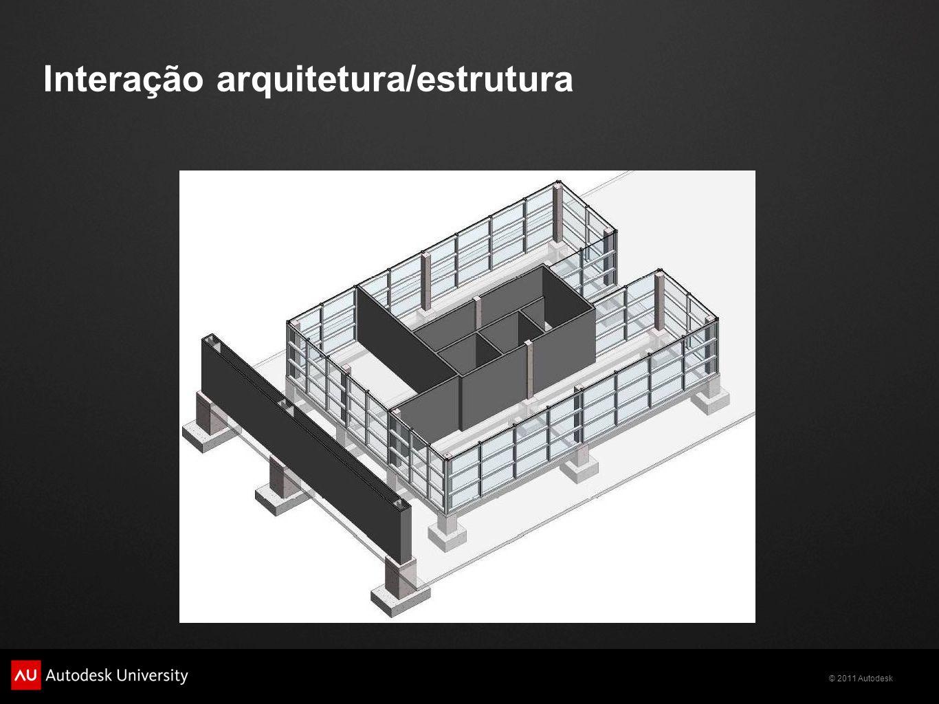© 2011 Autodesk Interação arquitetura/estrutura