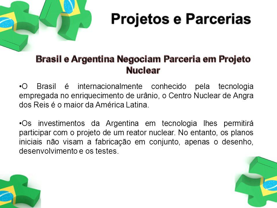 O Brasil é internacionalmente conhecido pela tecnologia empregada no enriquecimento de urânio, o Centro Nuclear de Angra dos Reis é o maior da América