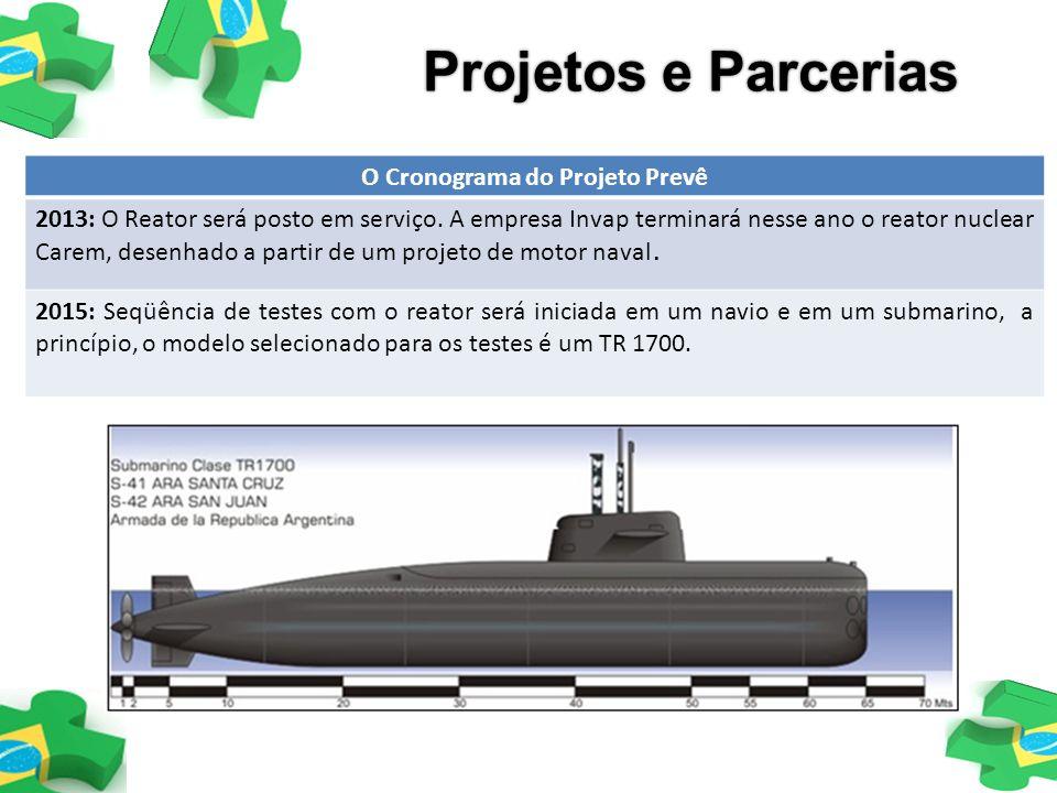 O Cronograma do Projeto Prevê 2013: O Reator será posto em serviço. A empresa Invap terminará nesse ano o reator nuclear Carem, desenhado a partir de