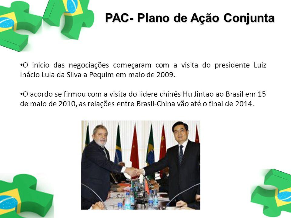 O inicio das negociações começaram com a visita do presidente Luiz Inácio Lula da Silva a Pequim em maio de 2009. O acordo se firmou com a visita do l