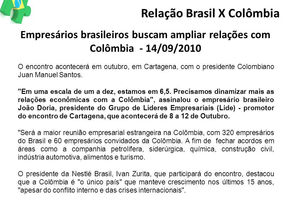 O encontro acontecerá em outubro, em Cartagena, com o presidente Colombiano Juan Manuel Santos.