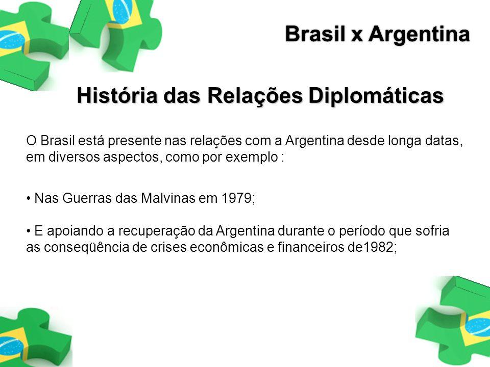 Nas Guerras das Malvinas em 1979; E apoiando a recuperação da Argentina durante o período que sofria as conseqüência de crises econômicas e financeiro