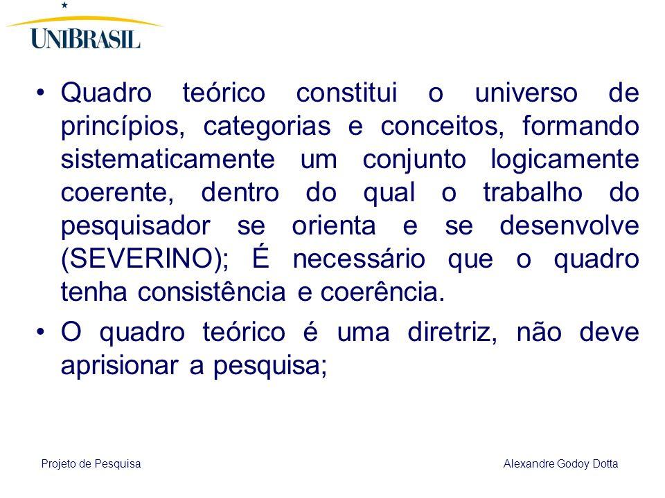 Projeto de Pesquisa Alexandre Godoy Dotta 4 REVISÃO BIBLIOGRÁFICA Resgate das principais obras ou correntes que trataram do assunto estudado no projet