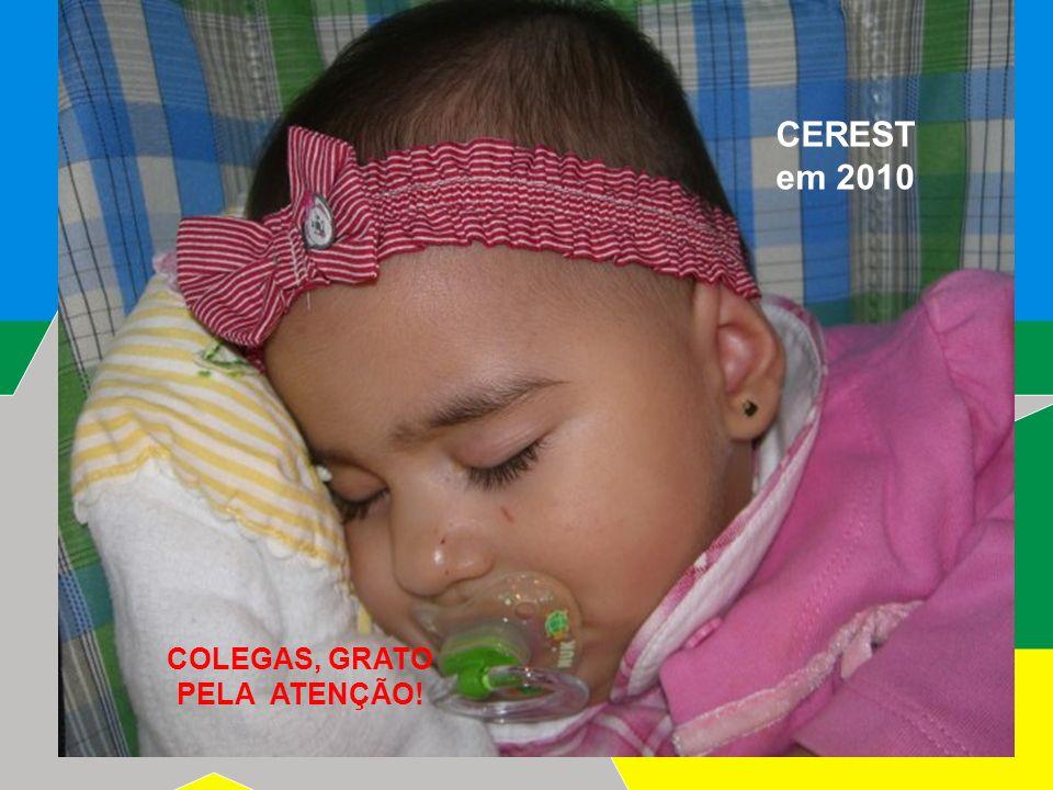 2009 COLEGAS, GRATO PELA ATENÇÃO! CEREST em 2010