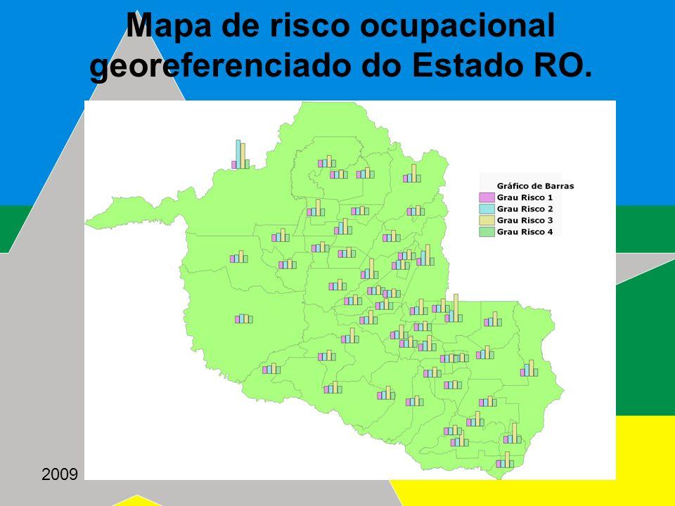 2009 Mapa de risco ocupacional georeferenciado do Estado RO.