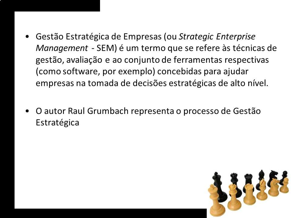 Gestão Estratégica de Empresas (ou Strategic Enterprise Management - SEM) é um termo que se refere às técnicas de gestão, avaliação e ao conjunto de f
