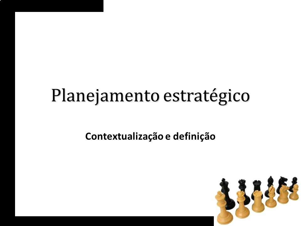 Dificuldade das empresas = conceituação da função do planejamento estratégico - sua real amplitude e abrangência.